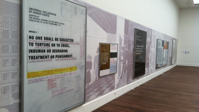 Impressions from installing the exhibition: NEWTOPIA